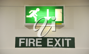 Royalty Free Photo of a Fire Exit Sign