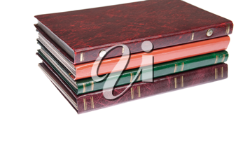 Royalty Free Photo of a Pile of Photo Albums