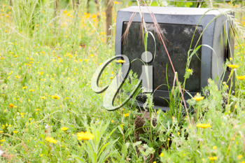 Royalty Free Photo of a Discarded Television
