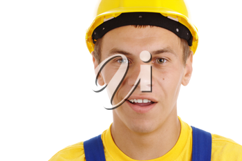 Royalty Free Photo of a Man in a Hardhat