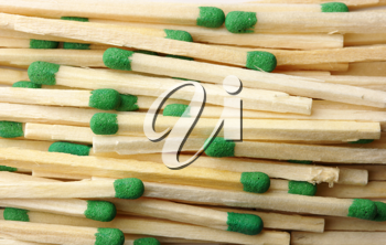 Royalty Free Photo of a Matchstick Background