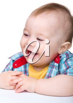 Royalty Free Photo of a Laughing Little Boy