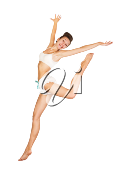 Royalty Free Photo of a Woman Leaping