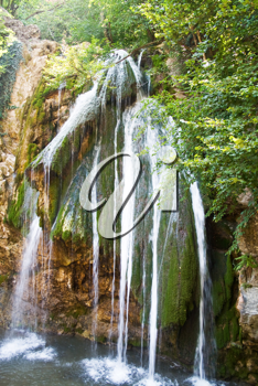 Royalty Free Photo of the Waterfall at Dzhur-dzhur in the Crimean Mountains