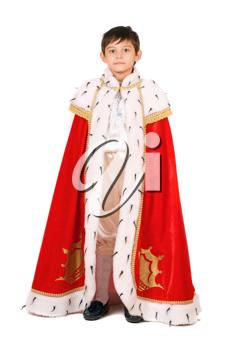 Royalty Free Photo of a Child in a Royal Robe