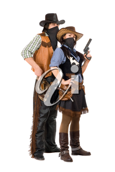Royalty Free Photo of a Couple of Western People