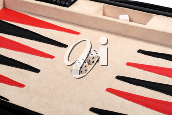 Royalty Free Photo of a Backgammon Game Showing Two Sixes