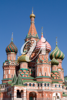Royalty Free Photo of Saint Basil's Cathedral Church in Moscow