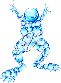 Royalty Free Clipart Image of an Air Bubble Frog