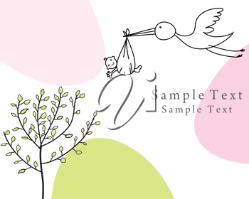 Royalty Free Clipart Image of a Greeting Card Template