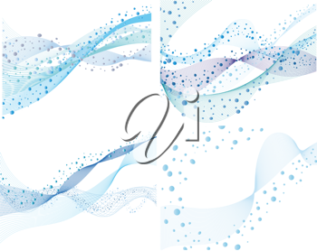 Royalty Free Clipart Image of a Set of Water Backgrounds
