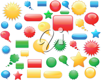Royalty Free Clipart Image of Web Elements