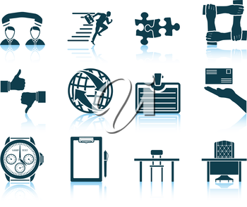 Set of business icon. EPS 10 vector illustration without transparency.