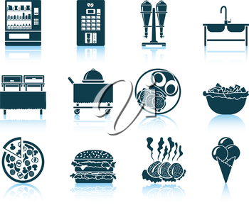 Set of restaurant icon. EPS 10 vector illustration without transparency.