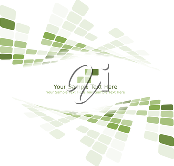 Checkered background with text space. Ideal balanced colors in green tone. Suitable for creating business, technological and other designs. Vector illustration.