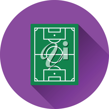 Icon of football field. Flat color design. Vector illustration.