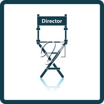 Director chair icon. Shadow reflection design. Vector illustration.