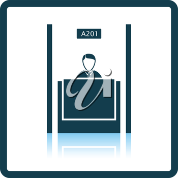 Bank clerk icon. Shadow reflection design. Vector illustration.