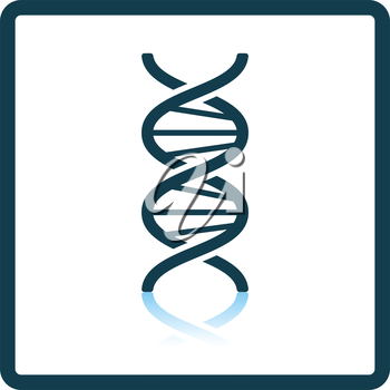 DNA icon. Shadow reflection design. Vector illustration.