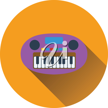 Synthesizer toy icon. Flat color design. Vector illustration.