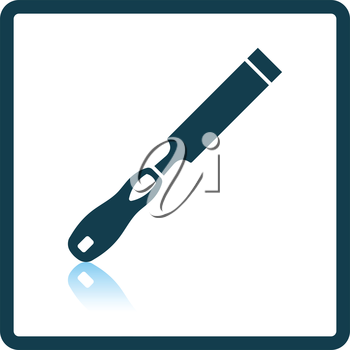 Icon of chisel. Shadow reflection design. Vector illustration.