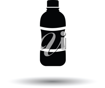 Water bottle icon. White background with shadow design. Vector illustration.