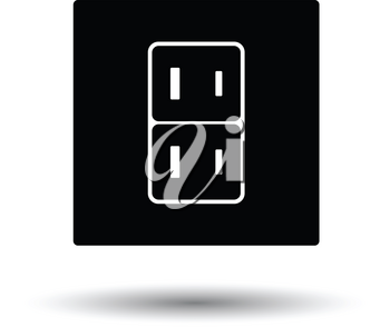 Japan electrical socket icon. White background with shadow design. Vector illustration.