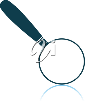 Magnifying Glass Icon. Shadow Reflection Design. Vector Illustration.