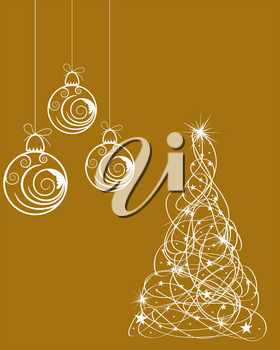 Christmas (New Year) Background. Greeting Card Design.