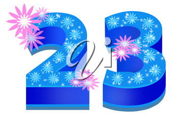 Royalty Free Clipart Image of the Number 23