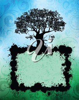 Royalty Free Clipart Image of an Abstract Tree Design