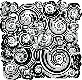Royalty Free Clipart Image of a Swirl Background