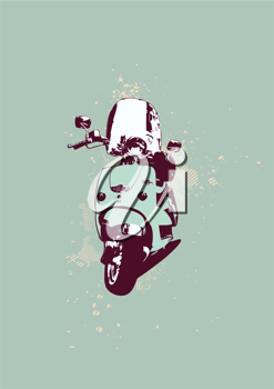 Royalty Free Clipart Image of a Scooter Bike