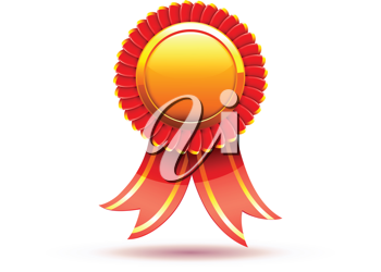 Royalty Free Clipart Image of a Red Badge