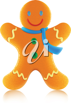 Royalty Free Clipart Image of a Gingerbread Cookie