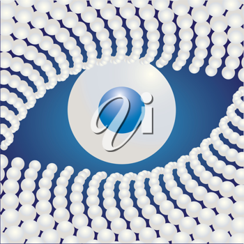 Royalty Free Clipart Image of a Pearl Eye