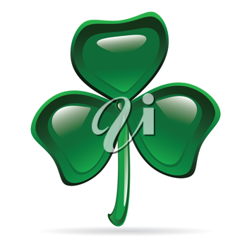Abstract glossy shamrock. St. Patrick's Day illustration