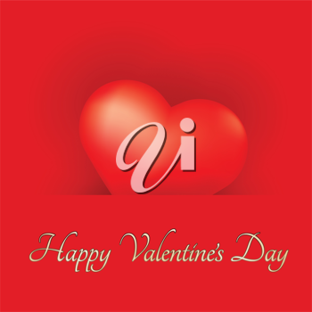 Festive Valentine's Day Card with Heart.