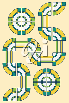 abstract yellow green road circles background vector file