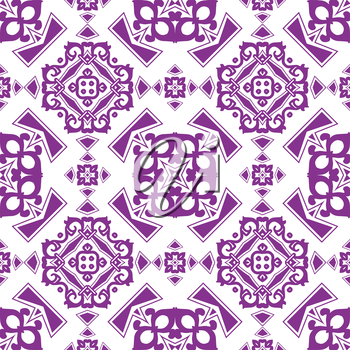 abstract retro vintage purple seamless pattern vector background