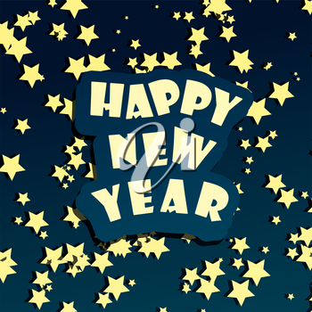 Happy new year vector card template. Decorative greeting holiday banner background.