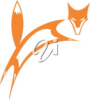 Royalty Free Clipart Image of a Fox