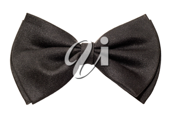Royalty Free Photo of a Black Bow Tie