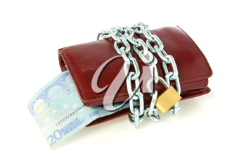 Royalty Free Photo of a Wallet With a Padlock