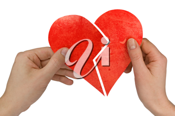 Royalty Free Photo of People Holding a Broken Heart