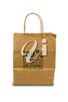 Royalty Free Photo of a Recycled Paper Bag