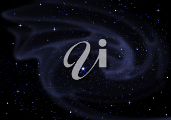 Royalty Free Clipart Image of a Black Background With Stars