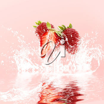 Royalty Free Photo of Berries in Water