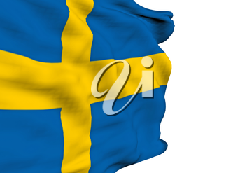 Image of a waving flag of Sweden