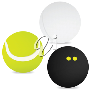 Royalty Free Clipart Image of Three Balls
